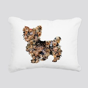 Too Many Yorkies Rectangular Canvas Pillow