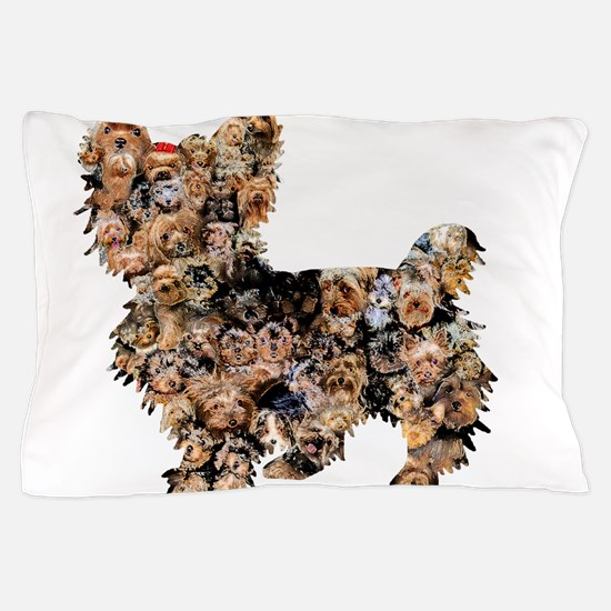 Too Many Yorkies Pillow Case