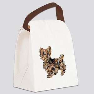 Too Many Yorkies Canvas Lunch Bag