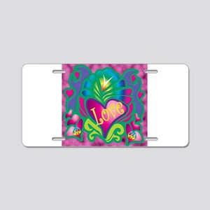 Animated Love Aluminum License Plate