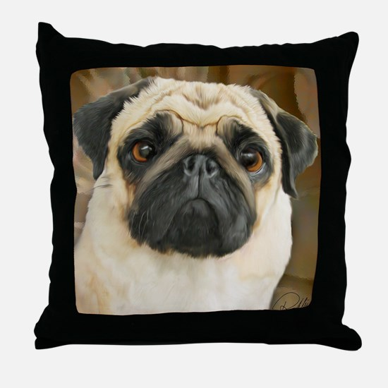 Pug-What! Throw Pillow