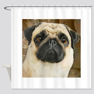 Pug-What! Shower Curtain
