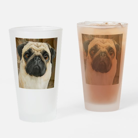 Pug-What! Drinking Glass