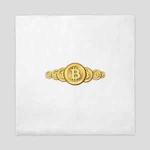 Bitcoin Logo Symbol Design Icons Queen Duvet