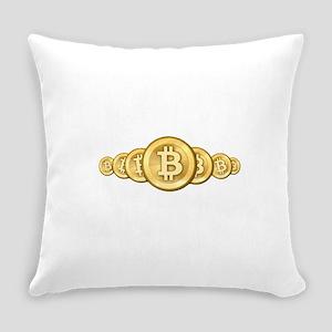 Bitcoin Logo Symbol Design Icons Everyday Pillow