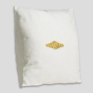 Bitcoin Logo Symbol Design Ico Burlap Throw Pillow