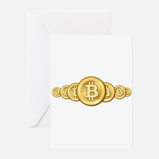 Bitcoin Logo Symbol Design Icons Greeting Cards