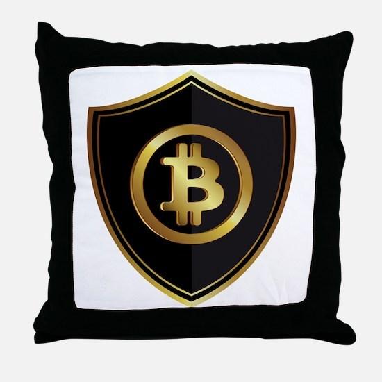 Bitcoin logo Throw Pillow