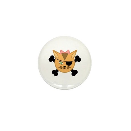 Carleigh's Pirate Kitty Mini Button (10 pack)
