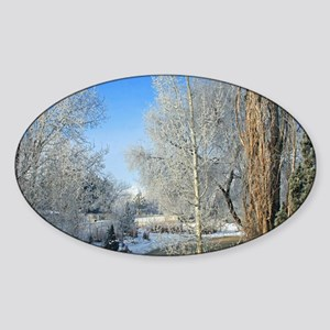 Cache Valley Frost Sticker (Oval)