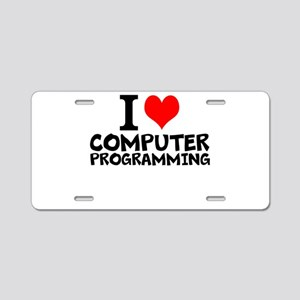 I Love Computer Programming Aluminum License Plate