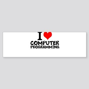 I Love Computer Programming Bumper Sticker