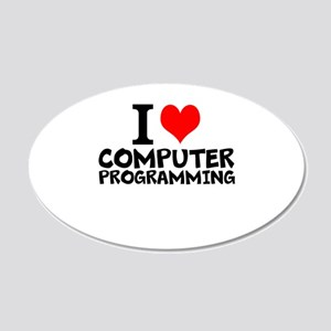 I Love Computer Programming Wall Decal