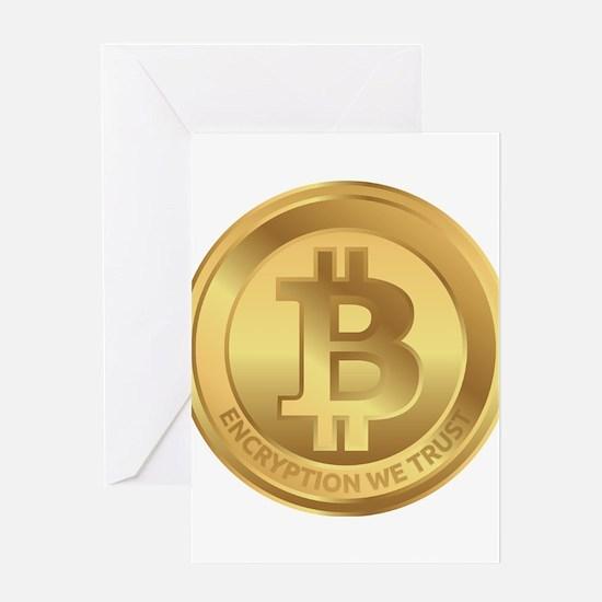 Bitcoin Logo Symbol Design Icon Greeting Cards