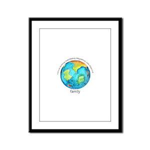 Earth Mama Framed Panel Print