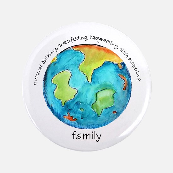 "Earth Mama 3.5"" Button"