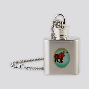 Pony and Bee Flask Necklace