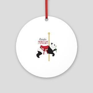 Panda-Monium Round Ornament
