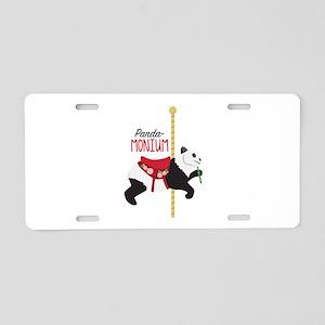 Panda-Monium Aluminum License Plate