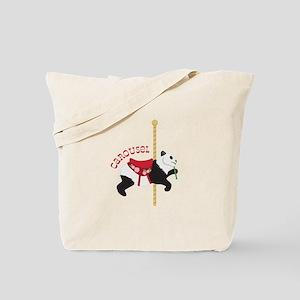 Panda Carousel Tote Bag