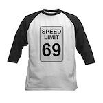Speed Limit 69 Kids Baseball Jersey