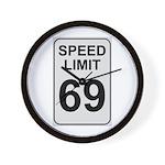 Speed Limit 69 Wall Clock