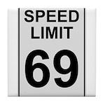 Speed Limit 69 Tile Coaster