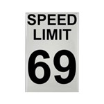 Speed Limit 69 Rectangle Magnet (10 pack)