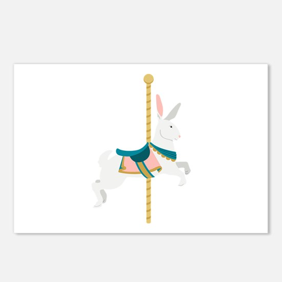 Carousel Rabbit Postcards (Package of 8)