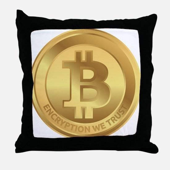 Bitcoin Logo Symbol Design Icon Throw Pillow