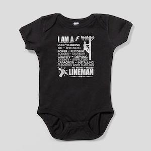 I Am A Lineman Baby Bodysuit