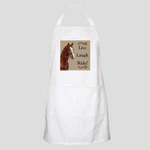 Live! Laugh! Ride! Horse Light Apron