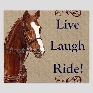 Live! Laugh! Ride! Horse King Duvet