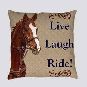 Live! Laugh! Ride! Horse Everyday Pillow
