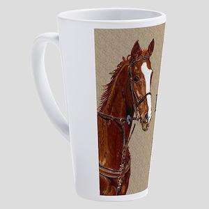 Live! Laugh! Ride! Horse 17 oz Latte Mug