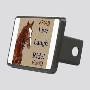 Live! Laugh! Ride! Horse Rectangular Hitch Cover