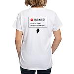 Restricted Entrance (Back) Women's V-Neck T-Shirt