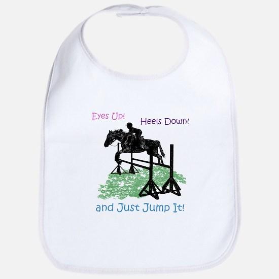 Fun Hunter/Jumper Equestrian Horse Baby Bib