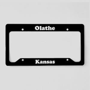 Olathe KS License Plate Holder