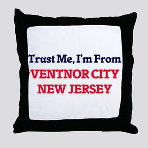 Trust Me, I'm from Ventnor City New J Throw Pillow