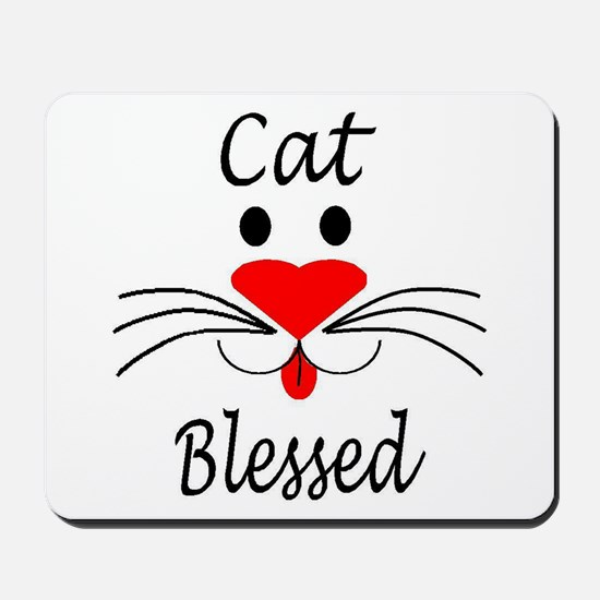 Cat Blessed Mousepad