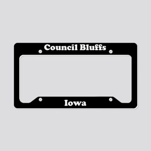 Council Bluffs IA License Plate Holder
