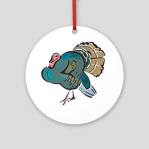 Pretty Wild Turkey Ornament (Round)
