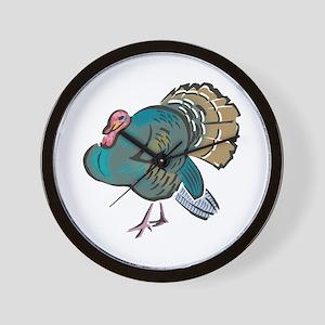 Pretty Wild Turkey Wall Clock