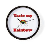 Taste My Rainbow Wall Clock