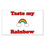 Taste My Rainbow Rectangle Sticker