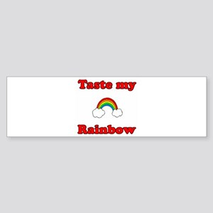 Taste My Rainbow Bumper Sticker