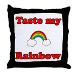 Taste My Rainbow Throw Pillow