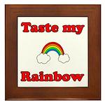 Taste My Rainbow Framed Tile