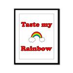 Taste My Rainbow Framed Panel Print